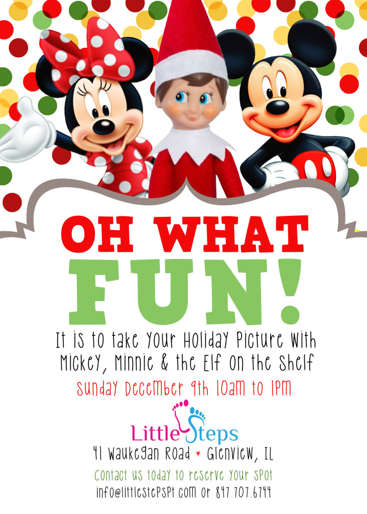 Mickey Minnie Elf on the Shelf flyer